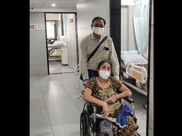 90 ટકા ફેફસાં ડેમેજ પણ મરવું તો નથી જ, એવું નક્કી કરીને બેઠેલા સુરતના 44 વર્ષનાં ભાનુબેને કોરોનાને હરાવ્યો|સુરત,Surat - Divya Bhaskar