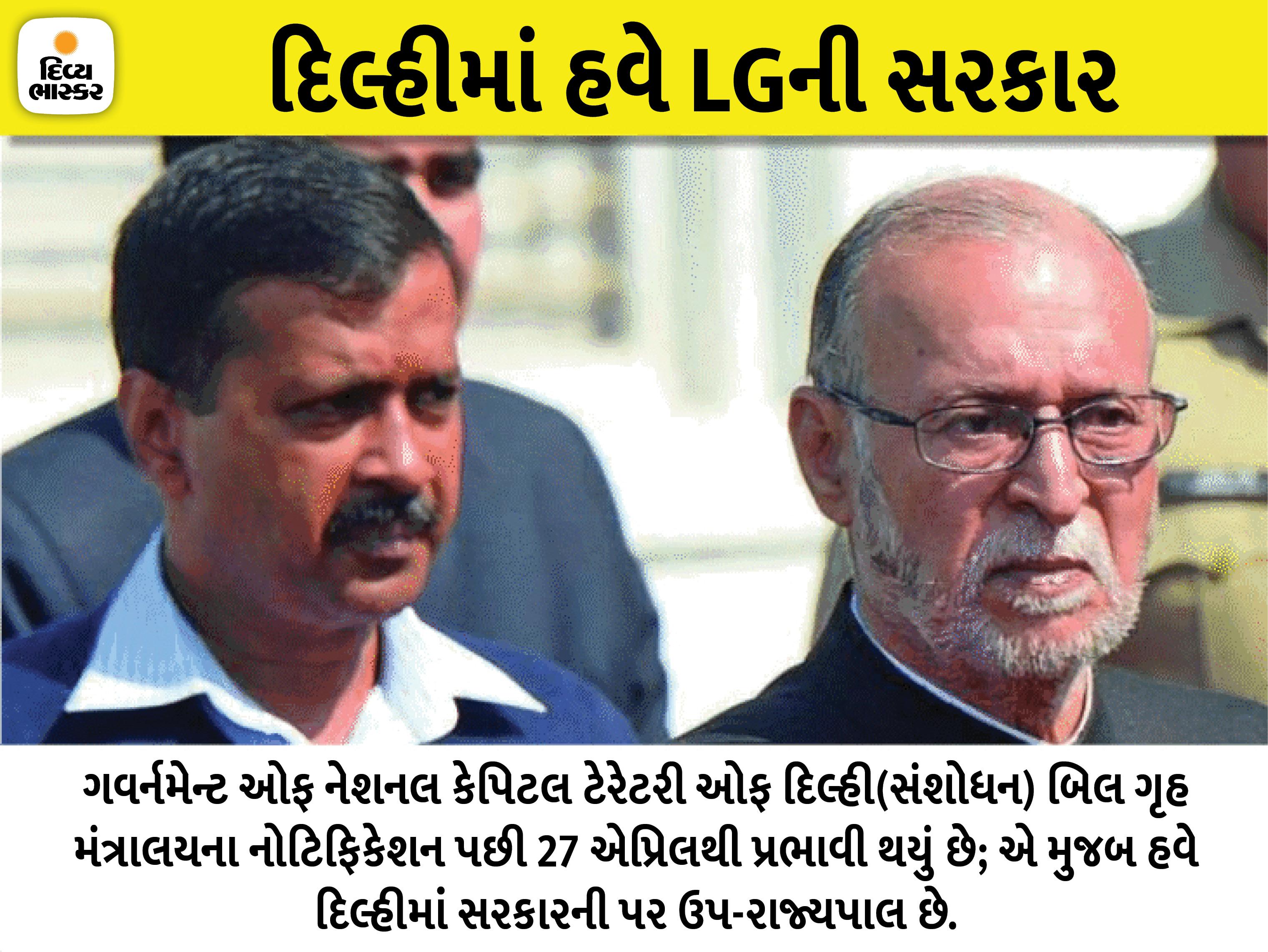 દિલ્હીમાં GNCTD બિલ લાગુ, કેજરીવાલ સરકારને કોઈપણ નિર્ણય પહેલાં ઉપ-રાજ્યપાલની મંજૂરી લેવી પડશે ઈન્ડિયા,National - Divya Bhaskar