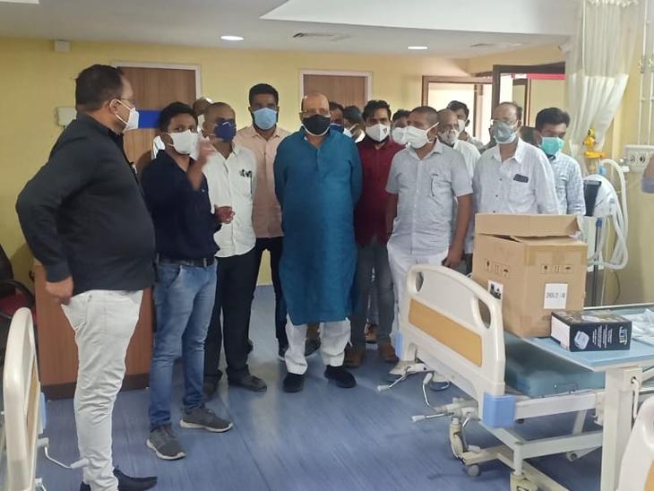 દહેજ હેલ્થ એન્ડ વેલ્ફેર સોસાયટીમાં 50 બેડવાળી હોસ્પિટલ ઉભી કરાઈ|વાગરા,Vagara - Divya Bhaskar