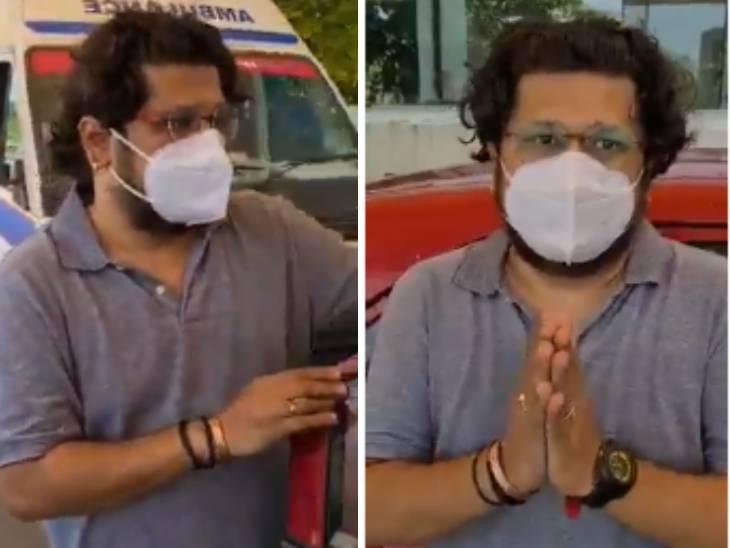 અમદાવાદમાં બેડ માટે લાઈનમાં ઉભેલા દર્દીના સ્વજને કહ્યું, ગંભીર સ્થિતિમાં લોકોને સેવા કરતા જોઈને ભાવુક થઈ જવાય છે|અમદાવાદ,Ahmedabad - Divya Bhaskar