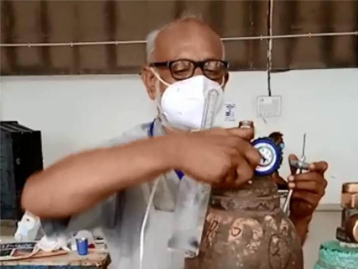 સુરતમાં આઈસોલેશન સેન્ટરમાં કોરોના દર્દીઓને મોતના મુખમાં જતા અટકાવતા 'કાકા', રોજ 15 કલાક ઓક્સિજનનું ધ્યાન રાખે છે સુરત,Surat - Divya Bhaskar