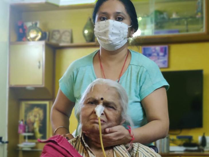 બે બ્રેઈન હેમરેજ, ડાયાબિટિસ, કરોડરજ્જૂનું ઓપરેશન અને બે વર્ષથી પેરેલિટિકલ છતાં ઘરે રહીને જ કોરોનાને હરાવ્યો|અમદાવાદ,Ahmedabad - Divya Bhaskar