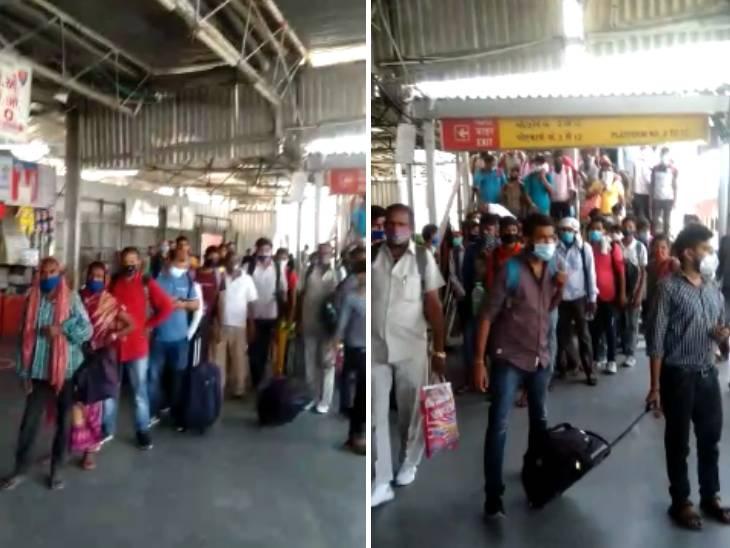 અમદાવાદ રેલવે સ્ટેશન પર પશ્ચિમ બંગાળથી આવેલી ટ્રેનના 300 જેટલા મુસાફરો ટેસ્ટ કરાવ્યા વિના જ શહેરમાં પ્રવેશ્યા અમદાવાદ,Ahmedabad - Divya Bhaskar