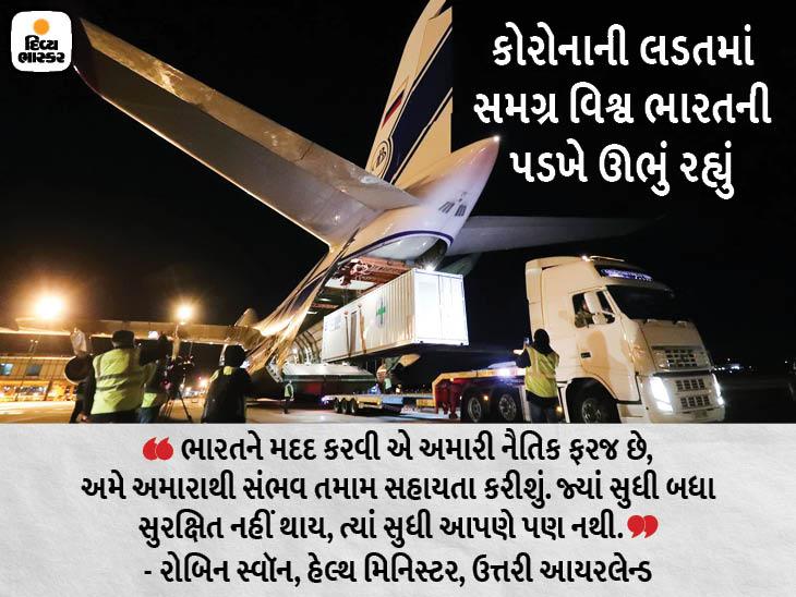 ઉત્તરી આયરલેન્ડથી 3 ઓક્સિજન પ્લાન્ટ અને 1 હજાર વેન્ટિલેટર લઈને વિમાન નીકળ્યું; કાલે દિલ્હી આવશે|ઈન્ડિયા,National - Divya Bhaskar