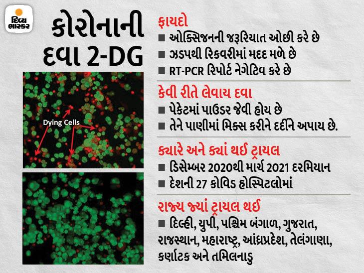DRDOની 2-DG દવાને DGCIની મંજૂરી, કોરોના દર્દીને જલદી રિકવરીમાં મદદ મળે છે|ઈન્ડિયા,National - Divya Bhaskar