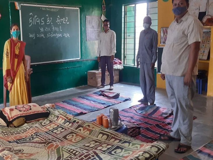 નર્મદા જિલ્લામાં 'મારૂ ગામ કોરોના મુક્ત ગામ' અભિયાન હેઠળ જિલ્લાની 671 પ્રા. શાળામાં કોવિડ સેન્ટર બનાવ્યા|રાજપીપળા,Rajpipla - Divya Bhaskar