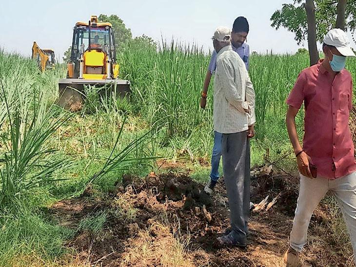 તરસાડીમાં જમીન સંપાદન કરવા આવેલી ટીમનો વિરોધ|કોસંબા,Kosamba - Divya Bhaskar