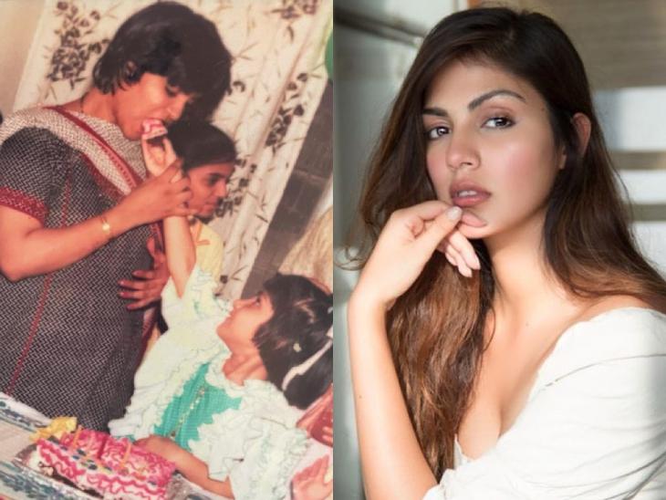 રિયા ચક્રવર્તી ભાવુક થઈ, માતા સાથેની તસવીર શૅર કરીને કહ્યું- 'નાનપણમાં તમે કહેલી વાત મને આજે પણ યાદ છે..'|બોલિવૂડ,Bollywood - Divya Bhaskar