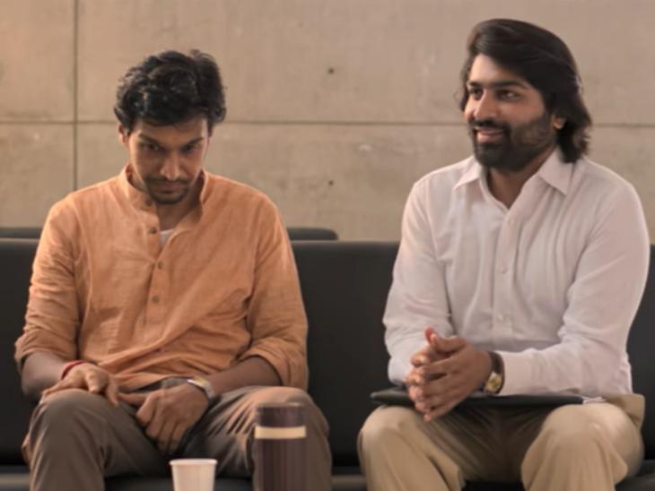 ગુજરાતી ફિલ્મ 'વેન્ટિલેટર'ના એક સીનમાં પ્રતીક તથા મલ્હાર.