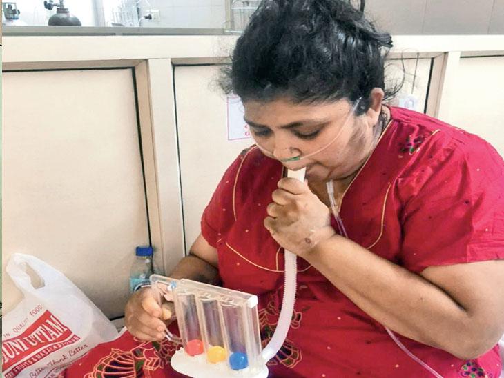 90 ટકા ઇન્ફેક્શનવાળાં દર્દી નીતા મહારાજવાલા. - Divya Bhaskar