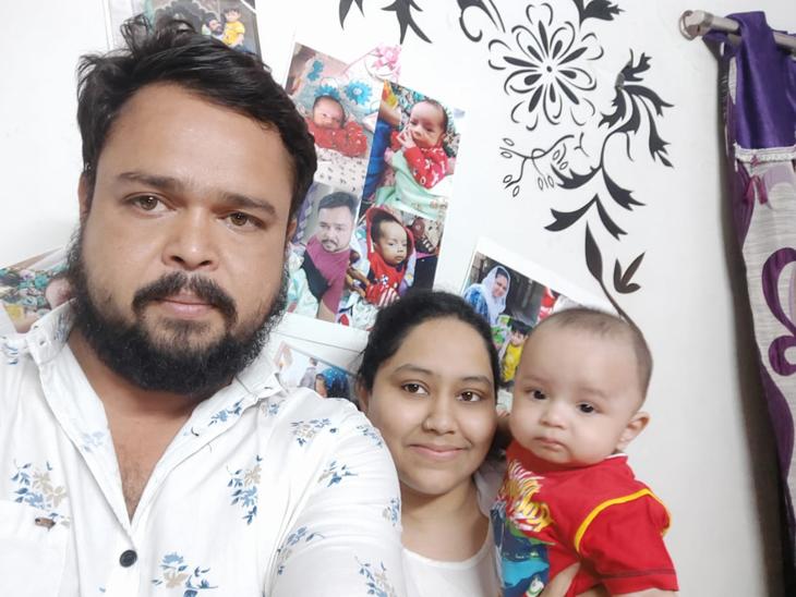 રાજકોટમાં છ માસના બાળક અને તેના માતા-પિતાએ કોરોનાને હરાવ્યો|રાજકોટ,Rajkot - Divya Bhaskar