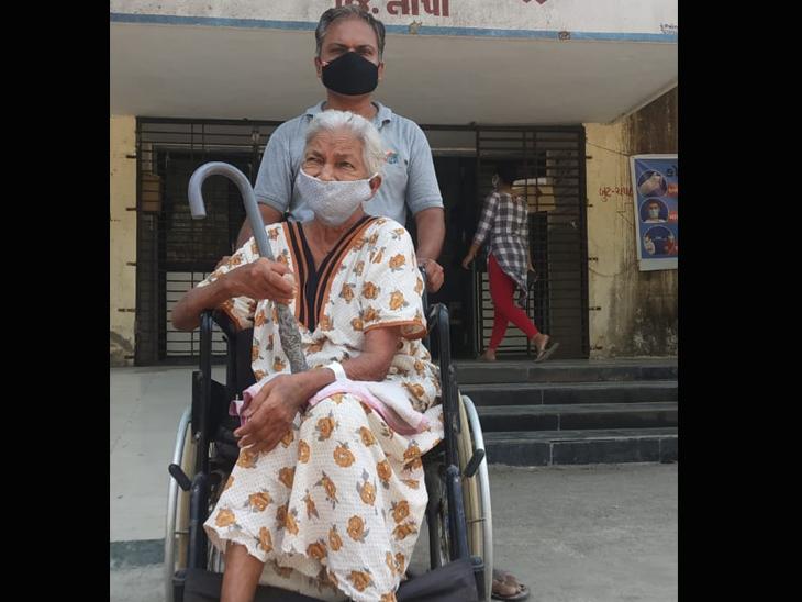 77 વર્ષના વૃદ્ધાએ કોરોનાને આપી માત - Divya Bhaskar