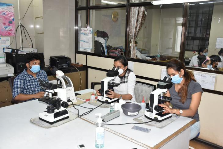 રાજકોટની સિવિલ હોસ્પિટલના બાયોકેમેસ્ટ્રી અને પેથોલોજી લેબમાં કોરોનાગ્રસ્ત દર્દીઓ માટે પાંચ પ્રકારનાં રોજ 4500થી વધુ રિપોર્ટ થાય છે|રાજકોટ,Rajkot - Divya Bhaskar