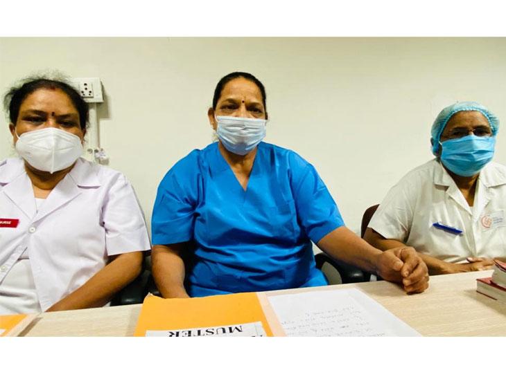 અમદાવાદ સિવિલ હોસ્પિટલમાં નિવૃત્ત થયેલો નર્સિંગ સ્ટાફ ફરીવાર દર્દીઓની સેવા અર્થે ફરજ પર હાજર થયો|અમદાવાદ,Ahmedabad - Divya Bhaskar