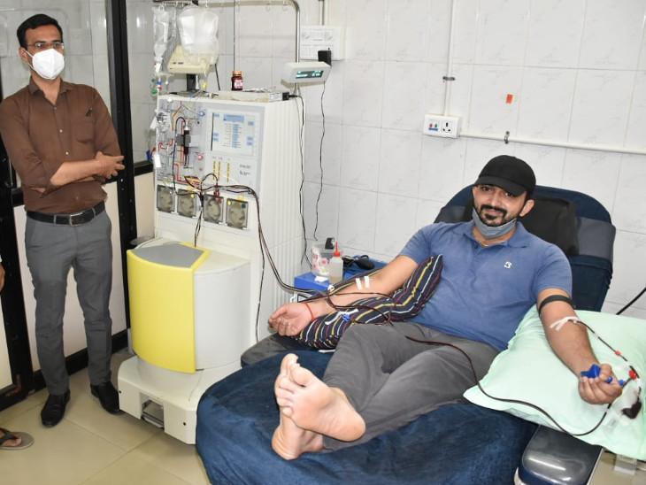 રાજકોટ સિવિલ હોસ્પિટલમાં અત્યાર સુધીમાં 987 પ્લાઝમા યુનિટનું કલેક્શન થયું, 950 દર્દીને પ્લાઝમા અપાયું રાજકોટ,Rajkot - Divya Bhaskar
