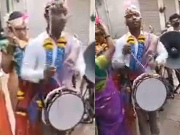 દુલ્હાએ પોતાના જ લગ્નમાં જાતે ઢોલ વગાડ્યો, વાઈરલ વીડિયો જોઇને યુઝરે કહ્યું, 'ભારતમાં દરેક વસ્તુનો જુગાડ મળી જાય'|લાઇફસ્ટાઇલ,Lifestyle - Divya Bhaskar