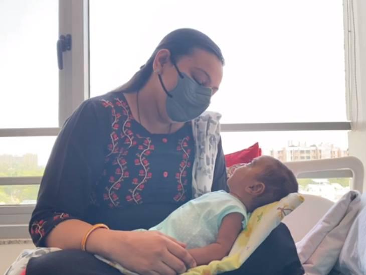 હાઈ ફ્રિકવન્સી વેન્ટીલેર પર રહ્યા બાદ બાળક ધીરે ધીરે સ્વસ્થ થયું