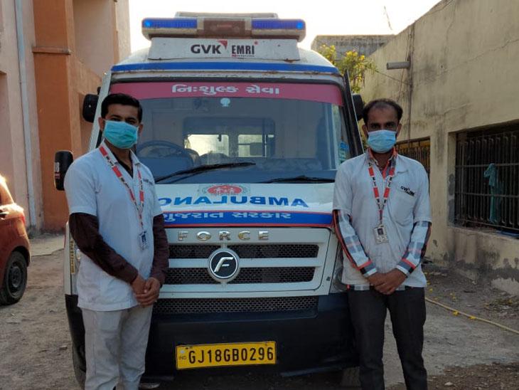 108 સેવા દર્દીઓ માટે લાઇફ લાઇન બની, પોરબંદર જિલ્લામાં એક મહિનામાં 700થી વધુ કોરોનાના દર્દીઓને હોસ્પિટલ સુધી પહોંચાડ્યા|પોરબંદર,Porbandar - Divya Bhaskar