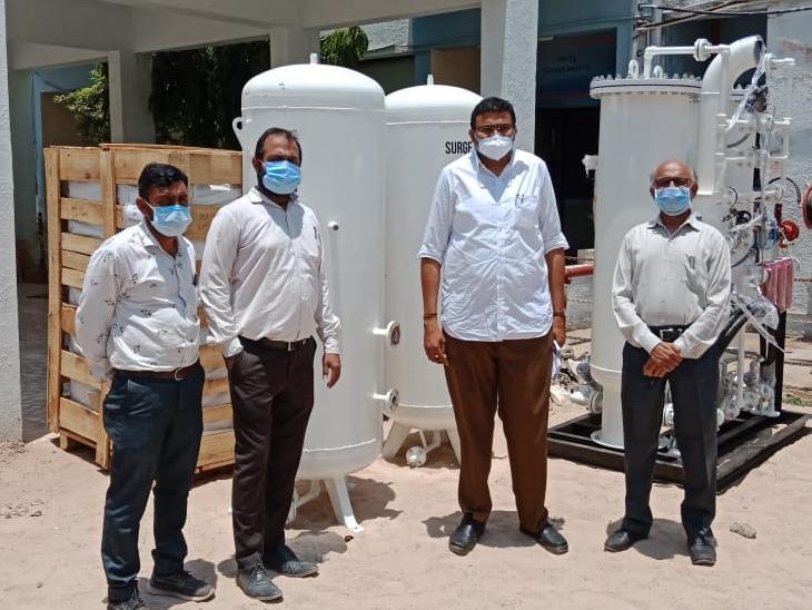 પાટણ સિવિલમાં કલર ટેક્સ લિમિટેડ કંપની ભરૂચ દ્વારા  ઓક્સિજન પ્લાન્ટ દાનમાં આપવામાં આવ્યો હતો. - Divya Bhaskar