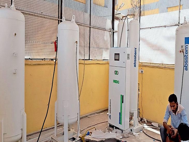 મોરબી સિવિલ હોસ્પિટલમાં ઓક્સિજન પ્લાન્ટ તૈયાર, વારંવાર બોટલ બદલાવાની ઝંઝટમાંથી મુક્તિ - Divya Bhaskar