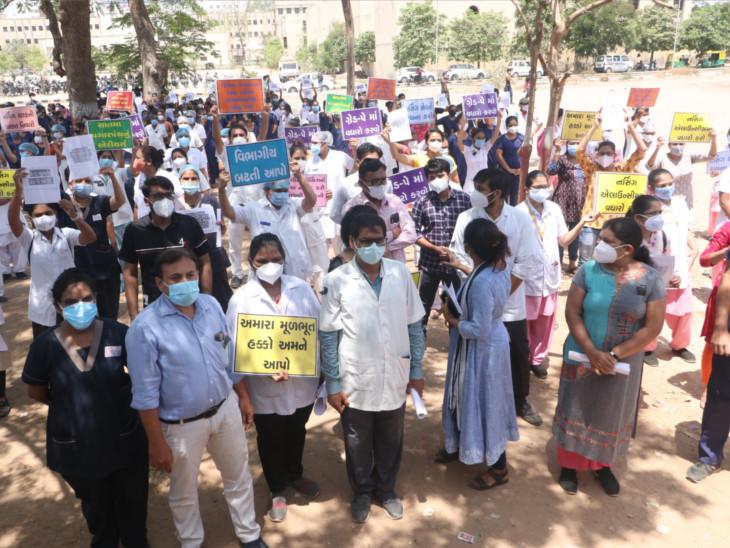 રાજ્યની 6 મેડિકલ કોલેજના 1700 ડોક્ટર આજથી હડતાળ પર ઉતર્યા, માગણીઓ યોગ્ય હોઈ શકે છે, પણ હડતાળ માટેનો સમય ખોટો છે|અમદાવાદ,Ahmedabad - Divya Bhaskar