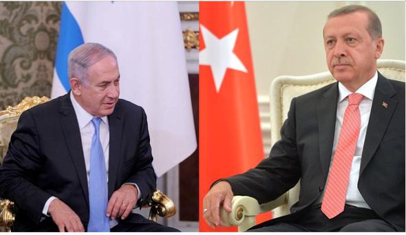 તુર્કી અને ઇઝરાયેલ વચ્ચે 1949થી રાજકીય સંબંધ છે. ઇઝરાયેલના PM નેતન્યાહુ અને તુર્કીના રાષ્ટ્રપતિ રેસેપ તૈયપ એર્દોગન (ફાઈલ).