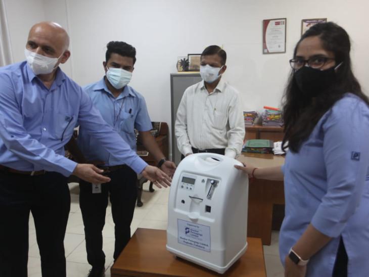 કંપનીએ કોરોનાના દર્દીઓ માટે 6 ઓક્સિજન કોન્સન્ટ્રેટર મશીન આપ્યા - Divya Bhaskar