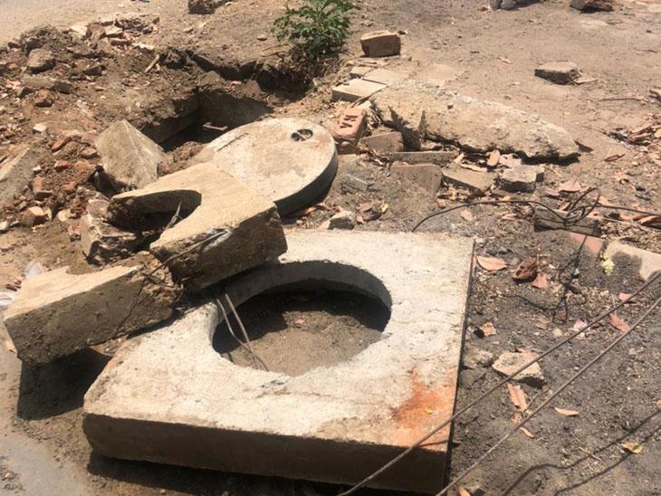 શહેરના ગટરના ખુલ્લા ઢાંકણા અને ખાડા અંગે પૂર્વ મેયરે રજૂઆત કરી. - Divya Bhaskar
