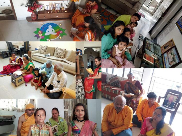 ગાંધીનગર દિગંબર જૈન સમાજ દ્વારા ઘરેથી 24 કલાકના ભક્તામર સ્તોત્રના પાઠ કરી વિશ્વ કોરોનામુક્ત થાય તેવી પ્રાર્થના કરી હતી. - Divya Bhaskar
