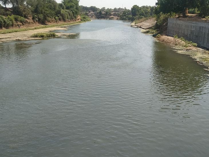 મીંઢોળા નદીની ગંદકી અટકાવવામાં ભૂતકાળના શાસકો નિષ્ફળ, નવાએ સત્તામાં આવી ફરી એજ રાગ આલાપ્યો|બારડોલી,Bardoli - Divya Bhaskar