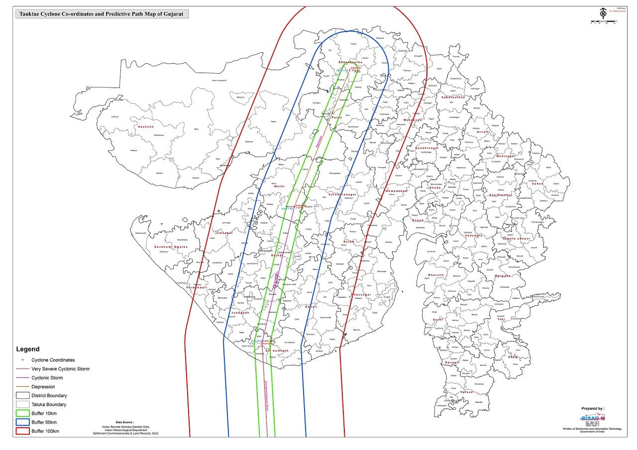 ગુજરાતના વાવાઝોડું પ્રવેશતા ભારે વરસાદની આગાહી
