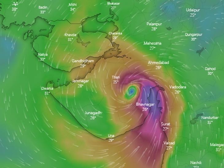 દક્ષિણ-પશ્ચિમી વિસ્તારોમાં ભારે વરસાદ થશે, રાજકોટ પહોંચતા ઝડપ 70 કિ.મી. થશે: સુરેન્દ્રનગરથી પસાર થઈ રાજસ્થાનમાં સમાઈ જશે|રાજકોટ,Rajkot - Divya Bhaskar