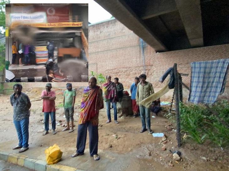અમદાવાદમાં વાવાઝોડા વચ્ચે એક તરફ લોકો જીવ બચાવવા પ્રયાસ કરી રહ્યા હતા ત્યારે અનેક લોકો લટાર મારવા નીકળ્યા|અમદાવાદ,Ahmedabad - Divya Bhaskar