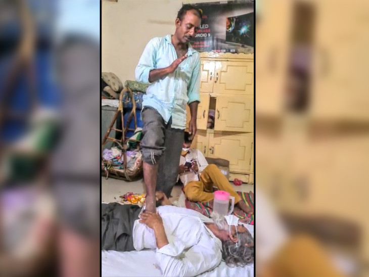 પાલનપુરમાં ભુવા પાસે કોરોનાનો ઇલાજ કરાવવા ગયો અને મળ્યું મોત, સોશિયલ મીડિયામાં ઘટનાનો વીડિયો વાઇરલ પાલનપુર,Palanpur - Divya Bhaskar