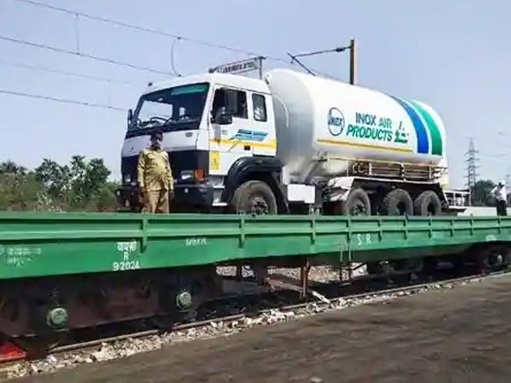 એક્સપ્રેસ ટ્રેન ચલાવી એક દિવસમાં 450.59 ટન ઓક્સિજનનું પરિવહન કર્યું|અમદાવાદ,Ahmedabad - Divya Bhaskar