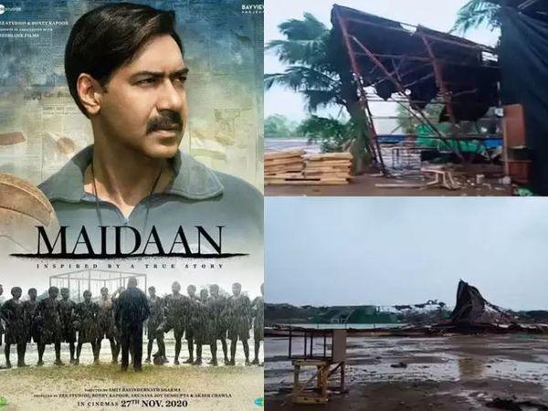 અજય દેવગનની ફિલ્મ 'મૈદાન'નો સેટ ધોવાઈ ગયો, પ્રોડ્યુસર બોની કપૂરે કહ્યું, '30 કરોડ રૂપિયાનું નુકસાન થયું'|બોલિવૂડ,Bollywood - Divya Bhaskar