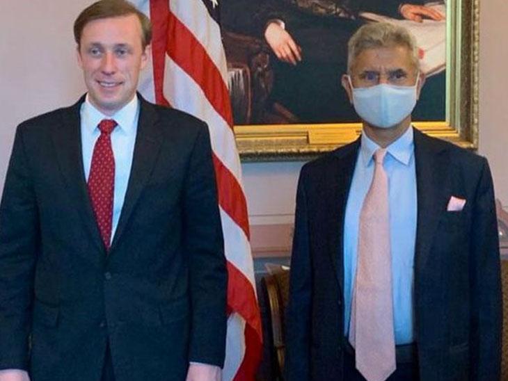 યુએસ રાષ્ટ્રીય સુરક્ષા સલાહકાર જેક સુલિવાન સાથે જયશંકર.