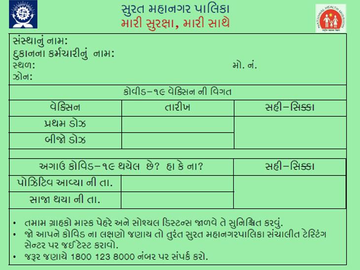 સુરતમાં કોરોના ન થયો હોય અને રસી પણ ન લીધી હોય તેવા વેપારીઓએ દર સોમવારે કોવિડ ટેસ્ટ કરાવવો પડશે|સુરત,Surat - Divya Bhaskar