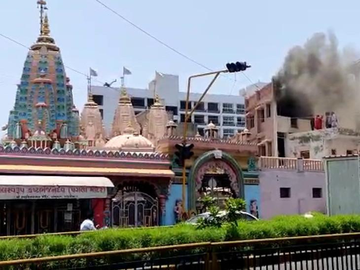 કાલુપુર સ્વામિનારાયણ મંદિર તાબા હેઠળના કાંકરિયા મંદિરમાં આગથી દોડધામ - Divya Bhaskar