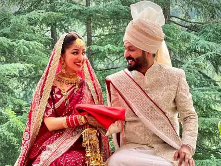યામી ગૌતમે 'ઉરી' ફૅમ ડિરેક્ટર આદિત્ય ધર સાથે ગુપચુપ લગ્ન કર્યા, પહેલી તસવીર સામે આવી|બોલિવૂડ,Bollywood - Divya Bhaskar