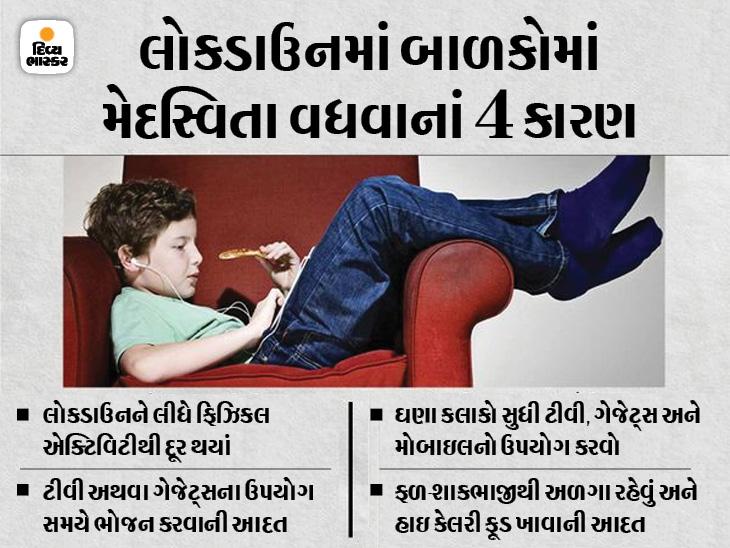 બાળકોને દિવસમાં 2 વખત ફળ-શાકભાજી ખવડાવવાથી મેદસ્વિતાનું જોખમ 25% ઘટાડી શકાય છે, જાણો મેદસ્વિતા કન્ટ્રોલ કરવાના ઉપાયો|હેલ્થ,Health - Divya Bhaskar