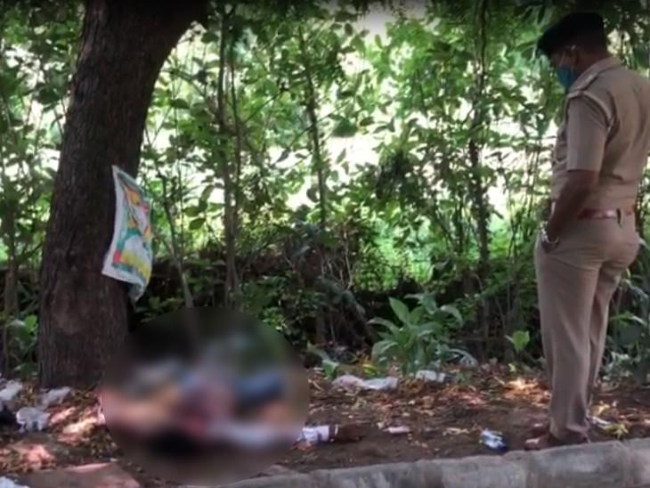 સુરતમાં 25 વર્ષના યુવકના પેટમાં તિક્ષ્ણ હથિયારના ઘા ઝીંકાતા આતરડા બહાર આવી જતા મોત, મૃતદેહ નજીકથી દારૂની બોટલો મળી|સુરત,Surat - Divya Bhaskar