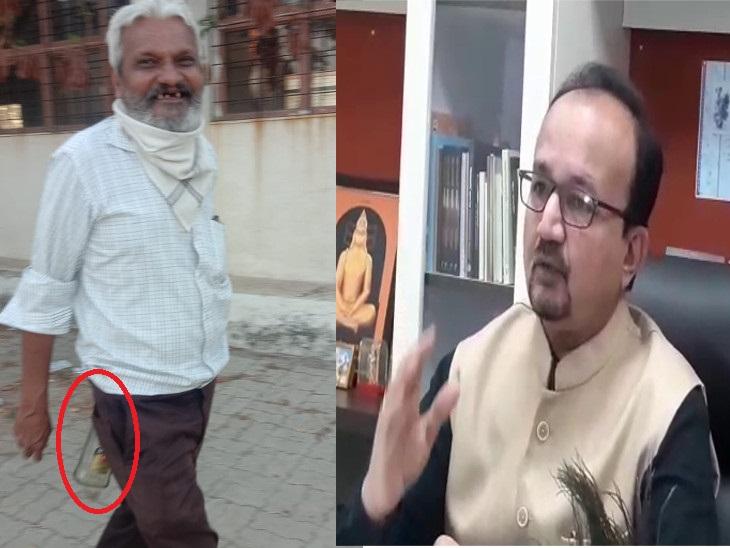 સૌ યુનિ.ના કેમ્પસમાં પરીક્ષા વિભાગના કર્મચારીનો દારૂની બોટલ સાથે ફોટો વાઈરલ,ઉપકુલપતિએ કહ્યું - આવી હરકત સાંખી લેવામાં નહીં આવે|રાજકોટ,Rajkot - Divya Bhaskar