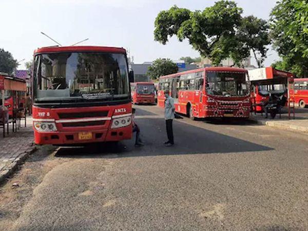 AMTS અને BRTS સોમવારથી સવારે 6થી રાત્રે 8 વાગ્યા સુધી 50 ટકા કેપેસિટી સાથે શરુ થશે|અમદાવાદ,Ahmedabad - Divya Bhaskar