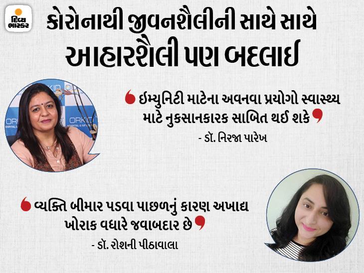 ફૂડ સાથે સંકળાયેલા તબીબોએ આરોગ્ય આપતા આહારને લઈને વાત કરી હતી. - Divya Bhaskar