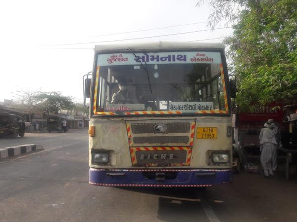 પોરબંદર એસટી વિભાગ દ્વારા 14 માંથી 33 શેડ્યુલ શરૂ કરાયા|પોરબંદર,Porbandar - Divya Bhaskar