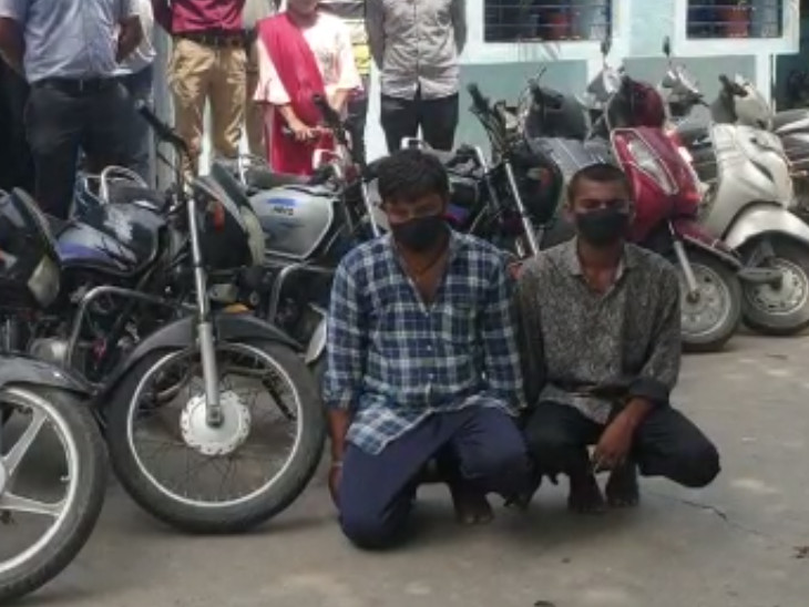 સુરતમાં વાહન ચોરી કરતી ટોળકી બાઈક વેચવા જતા ઝડપાઈ, 1.73 લાખનો મુદ્દામાલ કબ્જે કરાયો|સુરત,Surat - Divya Bhaskar