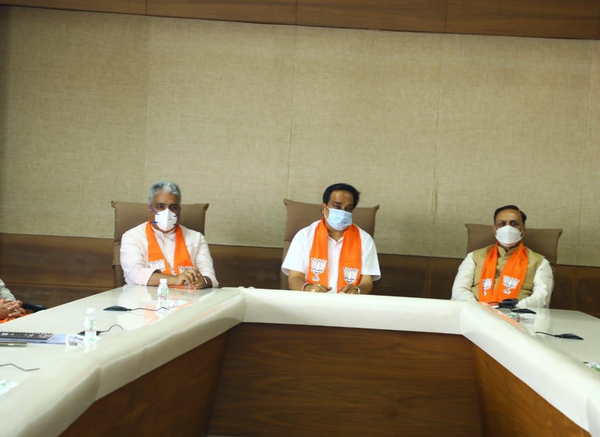સંગઠન અને સરકાર વચ્ચેનો તાલમેલ કરાવવા પ્રભારી યાદવ ગુજરાત આવ્યા, પ્રદેશના નેતાઓ અને મંત્રીઓ સાથે બેઠકો કરશે|ગાંધીનગર,Gandhinagar - Divya Bhaskar