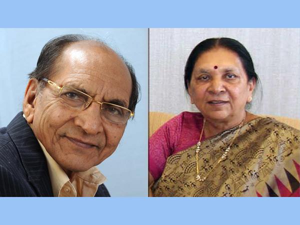 ડાબે મફતલાલ પટેલ અને જમણે આનંદીબેન પટેલની ફાઇલ તસવીર - Divya Bhaskar