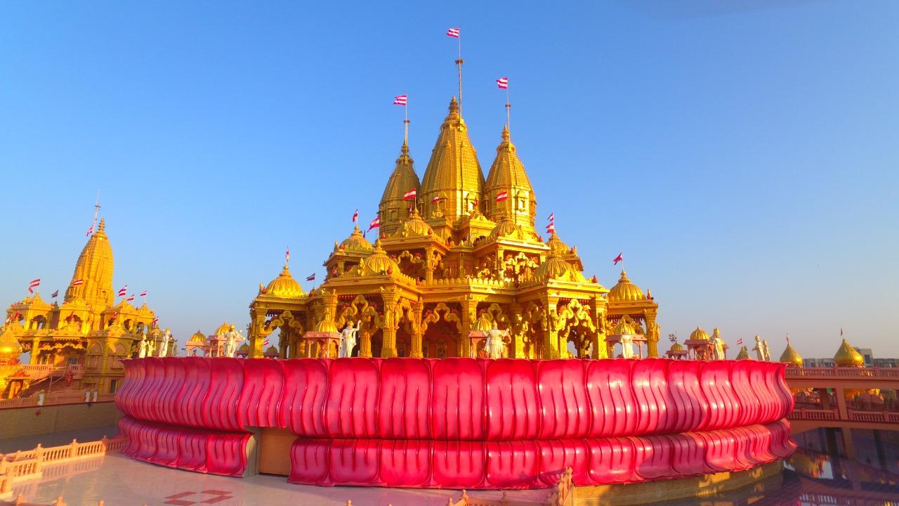 પાટડી વર્ણીન્દ્રધામ મંદિરમાં 3000 રોપાઓના વાવેતરના પ્રારંભ સાથે શ્રદ્ધાળુઓ માટે ભગવાનના દ્વાર ખુલ્યા - Divya Bhaskar